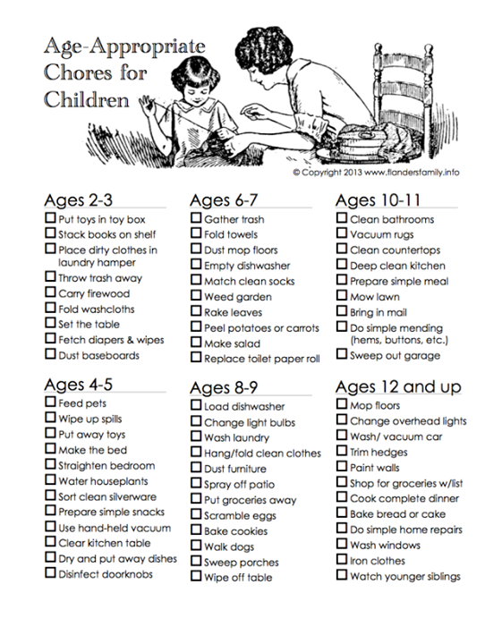 10, kids, chores for kids